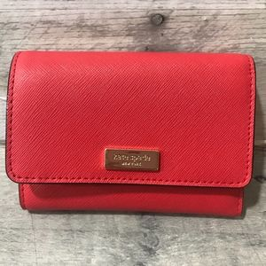 KATE SPADE SMALL RED WALLET JOY LAUREL WAY